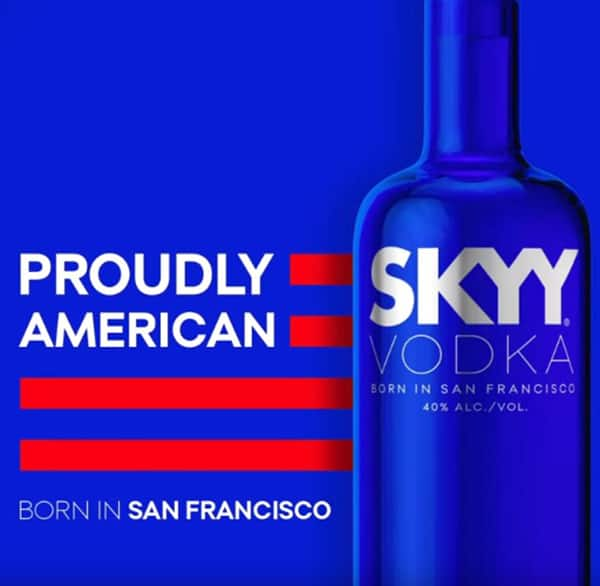 Skyy Vodka American Brand