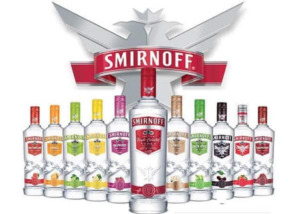 Smirnoff Vodka British Brand