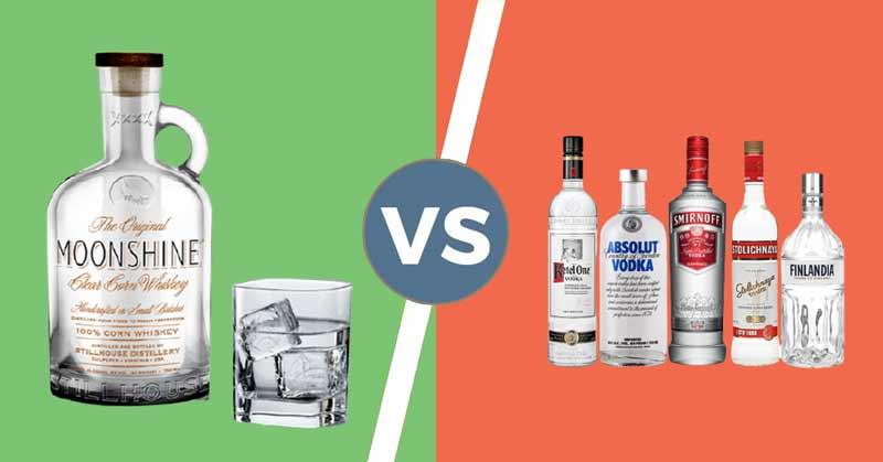 Moonshine vs Vodka