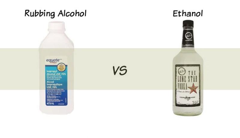 Rubbing Alcohol vs. Vodka