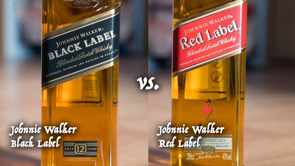 Johnnie Walker Black vs. Red Label Blend
