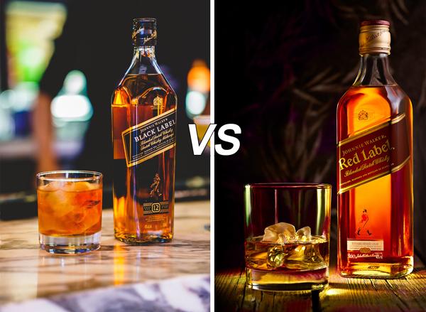 Johnnie Walker Black vs. Red Label Taste & Flavor