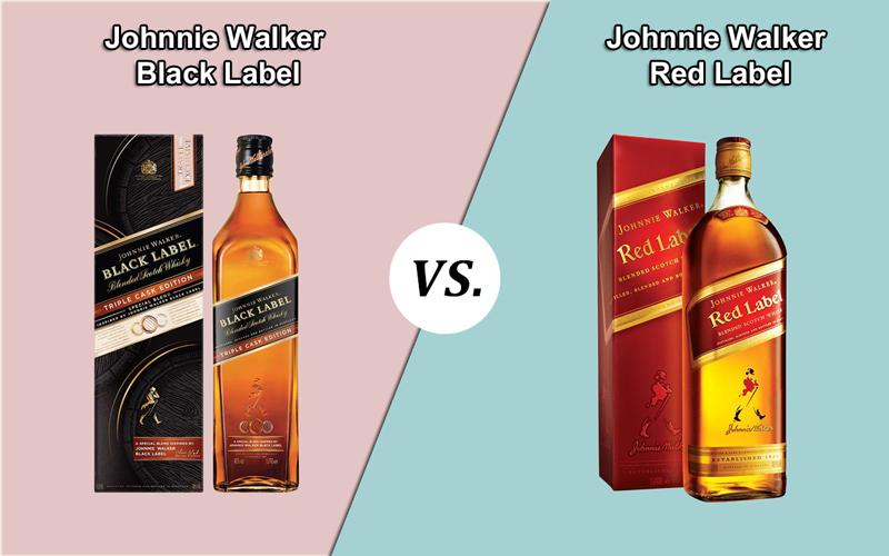 Johnnie Walker Black Label vs. Red Label
