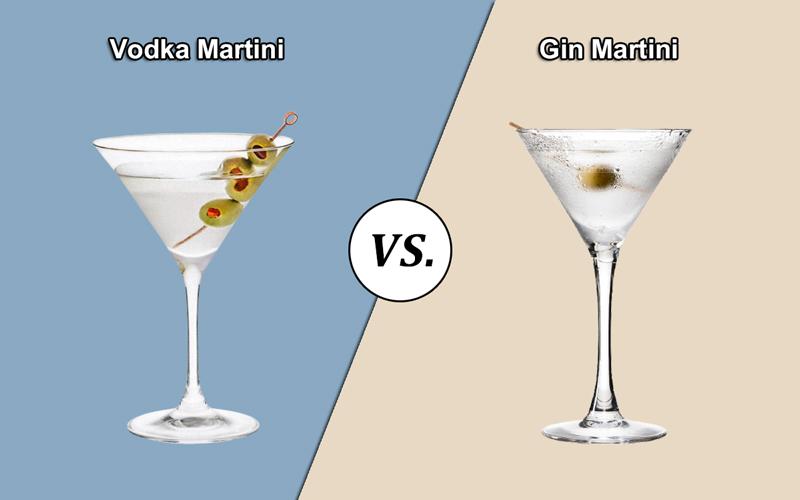 Vodka vs. Gin Martini